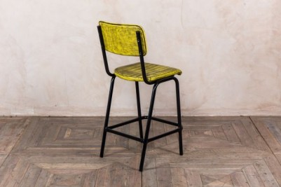 distressed yellow bar chair