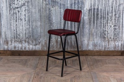 leather look bar stool