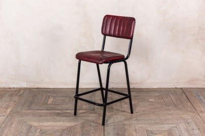 red breakfast bar stool