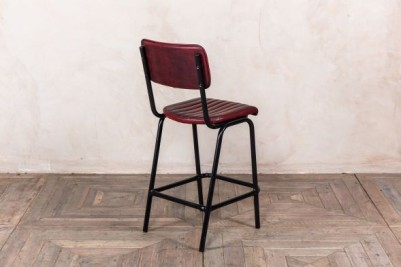 red leather look bar stool