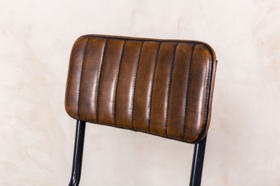 stitched leather look seat