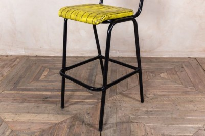 tall tubular steel bar stool