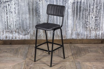 vintage black bar stool