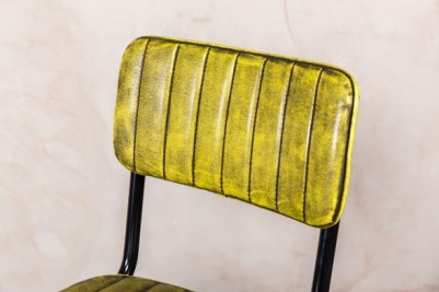 yellow PU leather stool