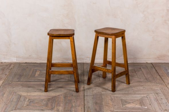 Imperial College London Solid Oak Breakfast Bar Stools