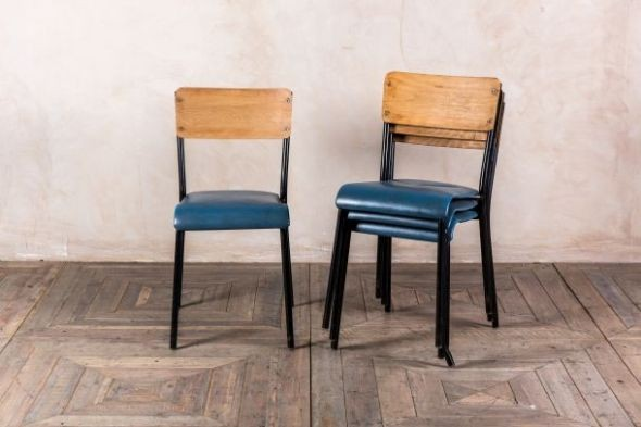 Blue Retro School Chairs