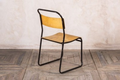 Black Frame Industrial Stacking Chairs
