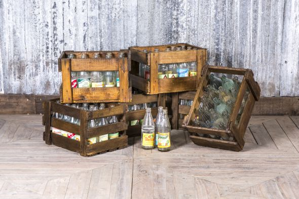 Rustic Bottle Crates