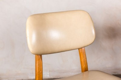 Cream Vintage Upholstered Cafe Chairs