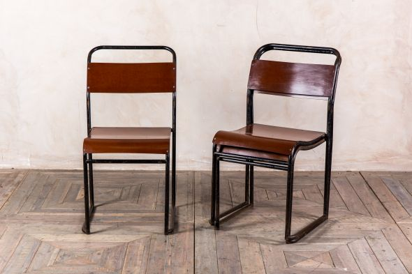 Bakelite Seat Stacking Chairs