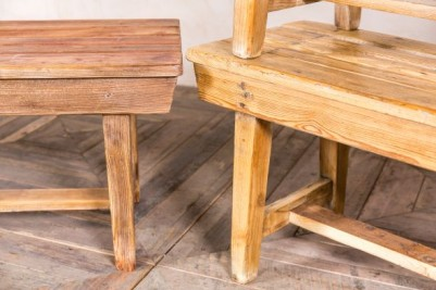 Vintage Wooden Bench Seating
