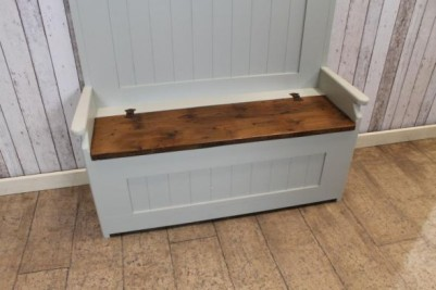 painted pine hall bench