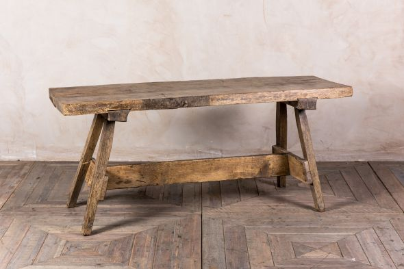 Vintage Pig Bench Low Console Table