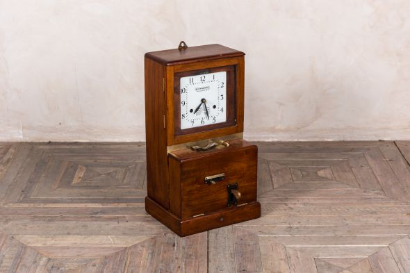 Vintage Time Recorder Clocking In Clock