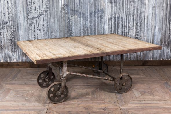 Upcycled Dining Table Cart With Wheels