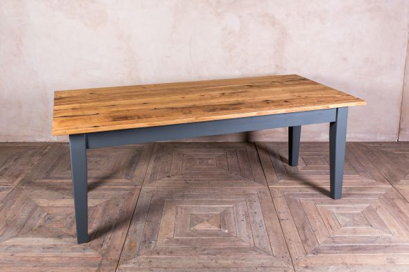 Oak Top Kitchen Table Painted Base