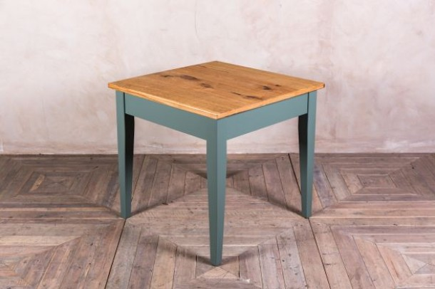 Square Wood Dining Table Painted Base