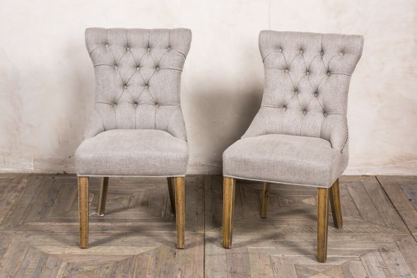 Versailles Fabric Dining Room Chair - Stone