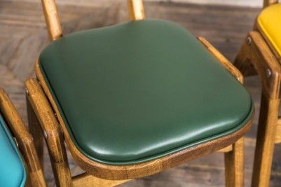 ben chairs with upholstered seat