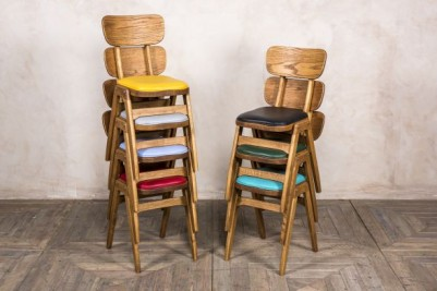 stackable upholstered wooden chair