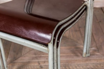 Bakelite Seat Grey Frame Stacking Chair