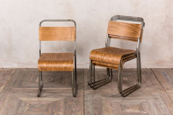 Gunmetal Industrial Stacking Chairs