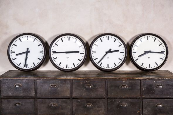 Vintage Industrial Round Wall Clocks