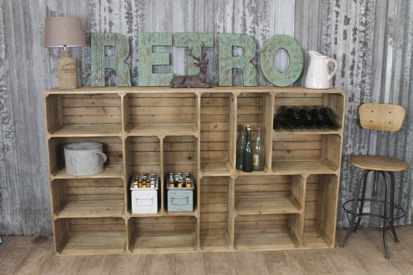 Rustic Pine Storage Unit