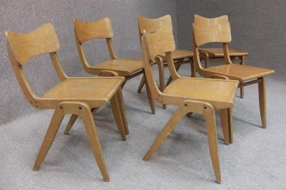 Stackable bentwood chairs