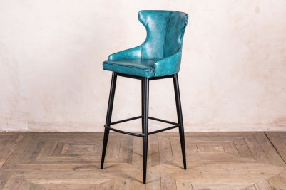blue admiral wingback stool