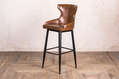 brown admiral wingback chair