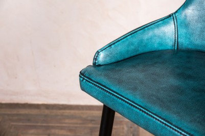 classic style blue bar stool