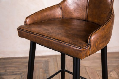 leather look upholstered seat pad