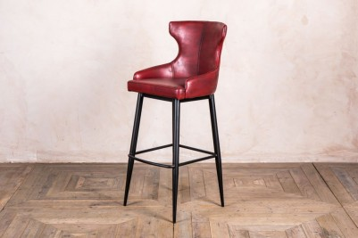 vintage style red bar stool