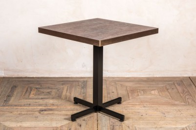 aged brass edge stone top square table