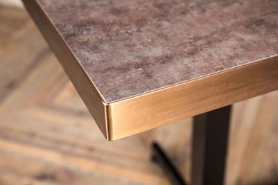 aged brass stone square table