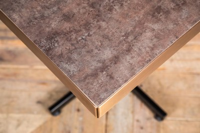 square stone top restaurant table