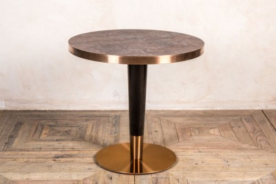 upgraded brass base restaurant dining small table