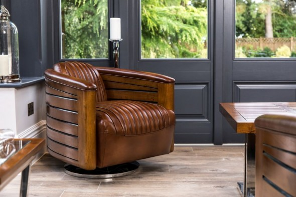 Belfast Leather Swivel Chair