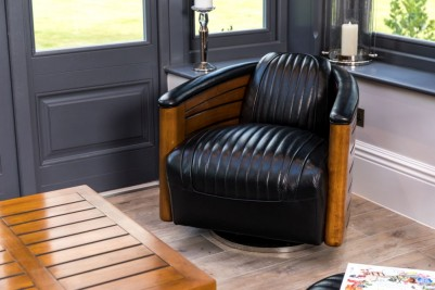 black-leather-swivel-chair