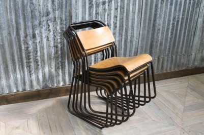 industrial stacking school chairs