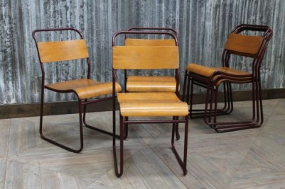 burgundy stacking chairs