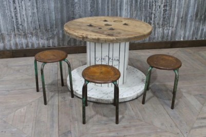 wooden cable drum table