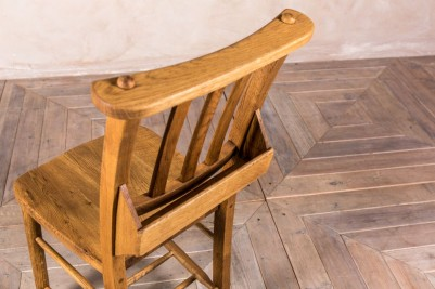 antique style chairs with Bible boxes