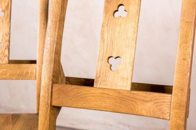 solid oak chapel chairs