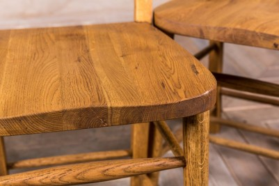 solid oak dining seating