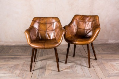 leather bucket chairs