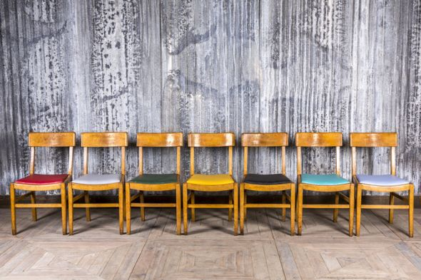 Colourful Wooden Cafe Chairs