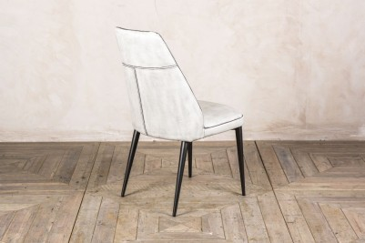 white leather look chair