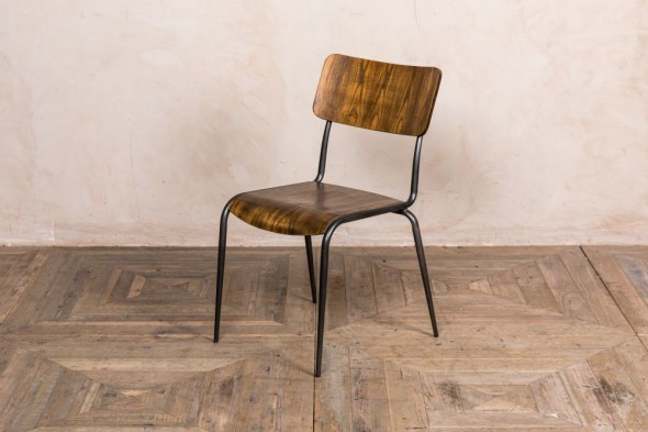 Cosmo Wooden and Metal Restaurant Dining Chair